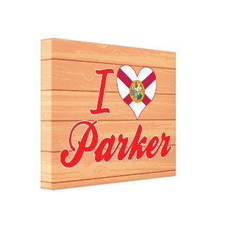 I Love Parker, Florida Canvas Prints