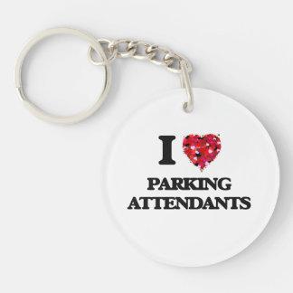 I Love Parking Attendants Single-Sided Round Acrylic Keychain