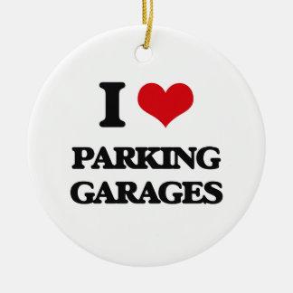 I Love Parking Garages Ceramic Ornament