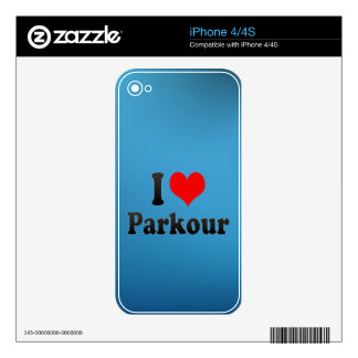I love Parkour Skin For iPhone 4