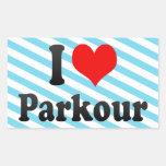 I love Parkour Stickers