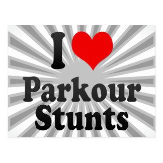 I love Parkour Stunts Postcard
