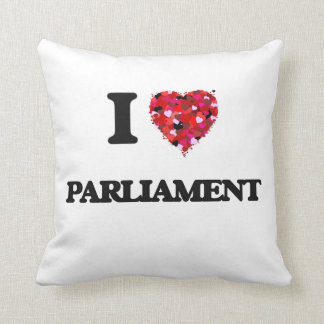 I Love Parliament Throw Pillows