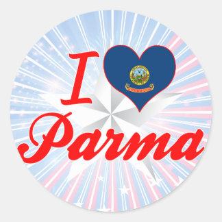 I Love Parma, Idaho Round Sticker