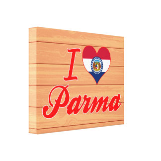 I Love Parma, Missouri Gallery Wrapped Canvas