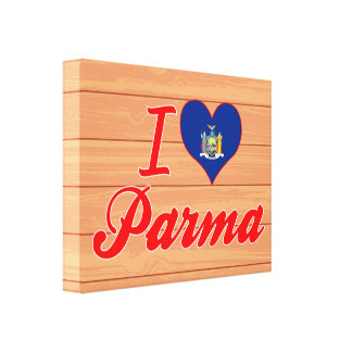 I Love Parma, New York Gallery Wrapped Canvas