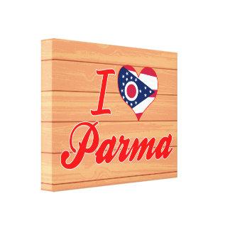 I Love Parma, Ohio Gallery Wrap Canvas