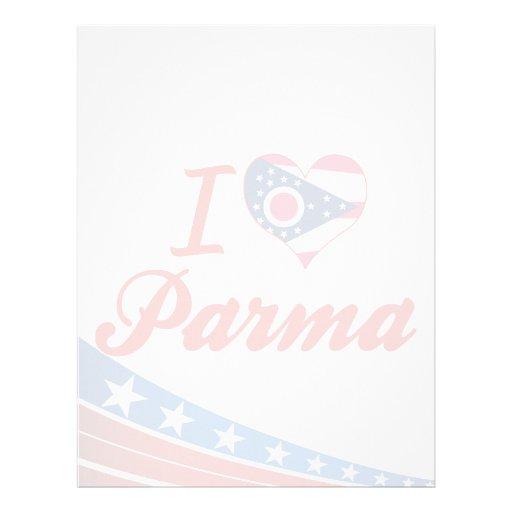 I Love Parma, Ohio Personalized Letterhead