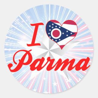 I Love Parma, Ohio Round Sticker