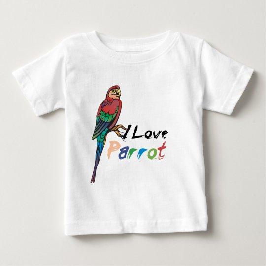 I Love Parrot Baby T-Shirt