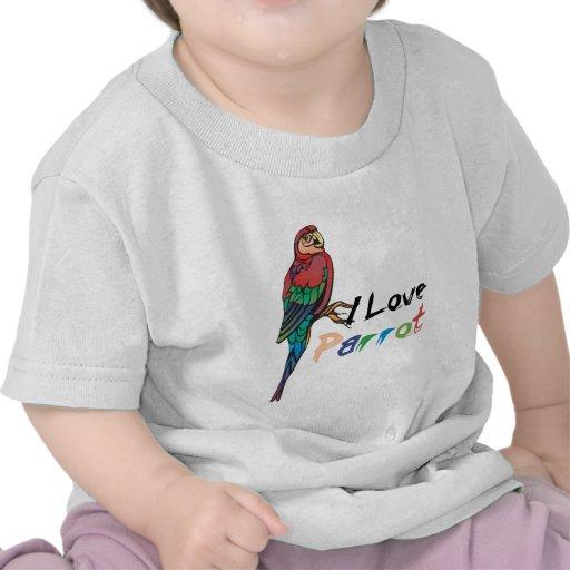 I Love Parrot T-shirt