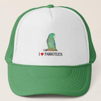 I love parrotlets trucker hat