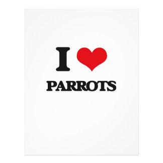 I love Parrots Full Color Flyer