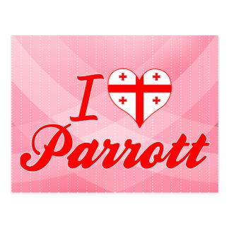I Love Parrott Georgia Postcard