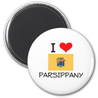 I Love Parsippany New Jersey 2 Inch Round Magnet