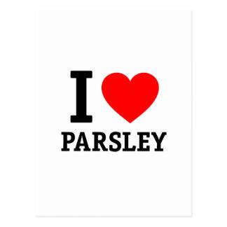 I Love Parsley Postcard