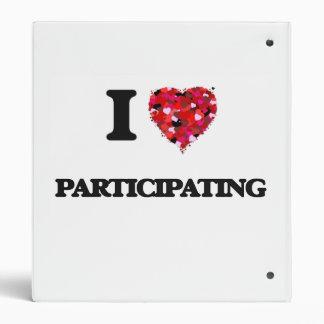 I Love Participating Binder