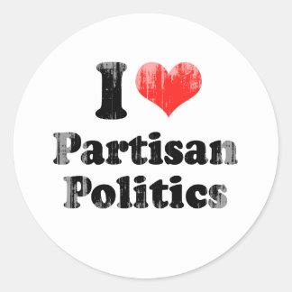 I LOVE PARTISAN POLITICS.png Round Sticker