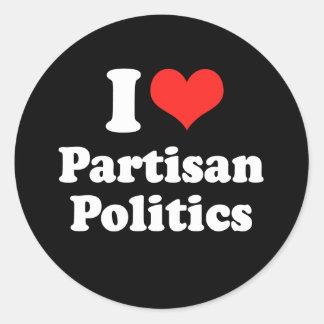 I LOVE PARTISAN POLITICS.png Round Stickers