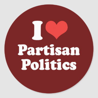 I LOVE PARTISAN POLITICS - .png Stickers