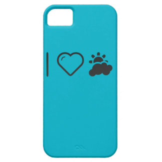 I Love Partly Cloudy Weather iPhone 5 Cover