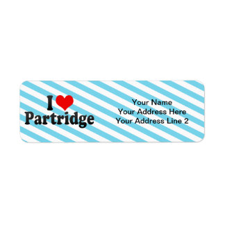 I Love Partridge Custom Return Address Labels