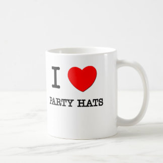 I Love Party Hats Classic White Coffee Mug