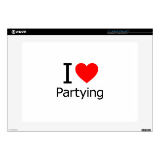 """I Love Partying Skin For 15"""" Laptop"""