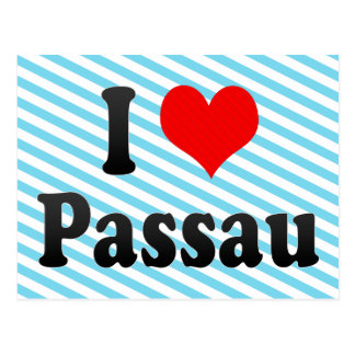 I Love Passau, Germany. Ich Liebe Passau, Germany Postcard