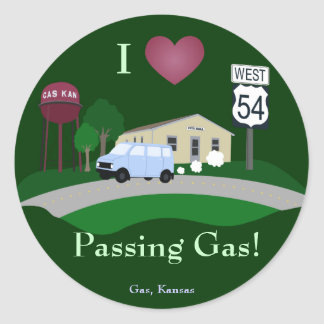 I Love Passing Gas Stickers