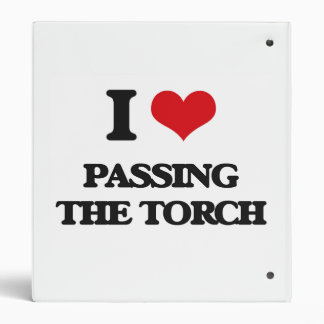 I love Passing The Torch Vinyl Binders