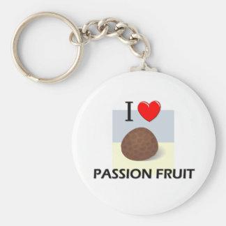 I Love Passion Fruit Basic Round Button Keychain