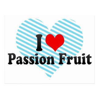 I Love Passion Fruit Postcard