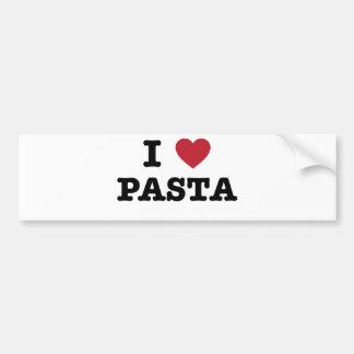 I Love Pasta Car Bumper Sticker