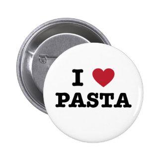 I Love Pasta Button