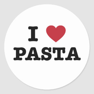 I Love Pasta Classic Round Sticker