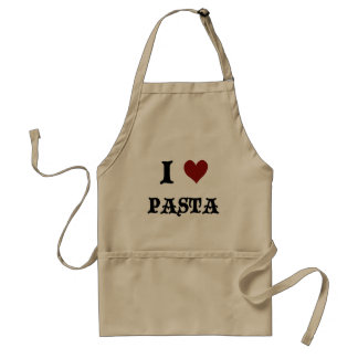 I Love Pasta Khaki Cooking Apron