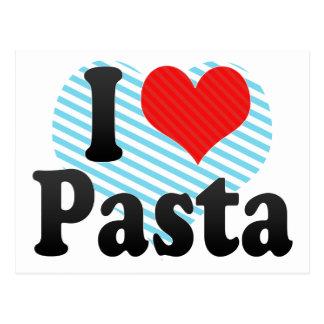 I Love Pasta Postcard
