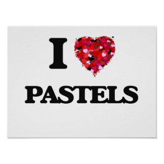 I Love Pastels Poster