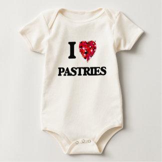 I Love Pastries food design Rompers