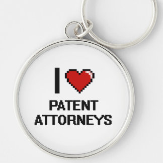 I love Patent Attorneys Silver-Colored Round Keychain