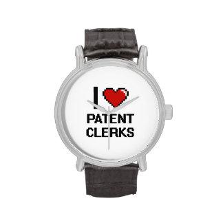 I love Patent Clerks Wrist Watches