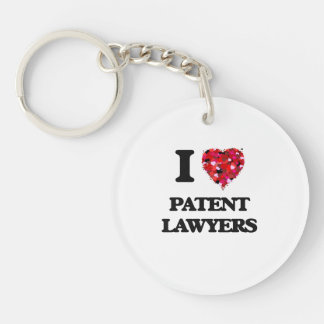 I love Patent Lawyers Single-Sided Round Acrylic Keychain