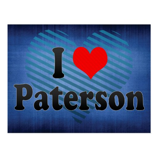 I Love Paterson, United States Postcard