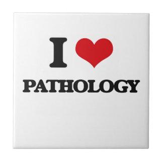 I Love Pathology Small Square Tile