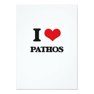 "I Love Pathos 5"" X 7"" Invitation Card"
