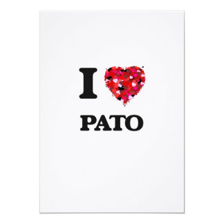 I Love Pato 5x7 Paper Invitation Card