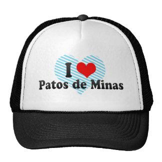 I Love Patos de Minas, Brazil Mesh Hats