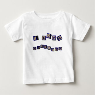 I love Patricia toy blocks in blue Baby T-Shirt
