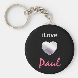 I Love Paul Keychains
